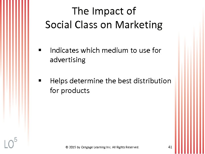 The Impact of Social Class on Marketing § Indicates which medium to use for