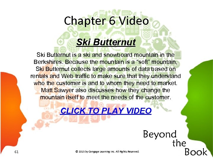 Chapter 6 Video Ski Butternut is a ski and snowboard mountain in the Berkshires.