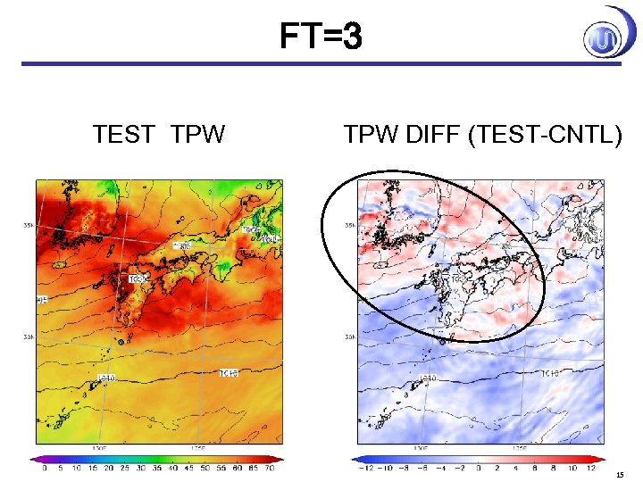 FT=3 TEST TPW DIFF (TEST-CNTL) 15