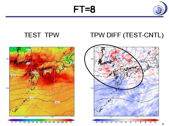 FT=8 TEST TPW DIFF (TEST-CNTL) 20