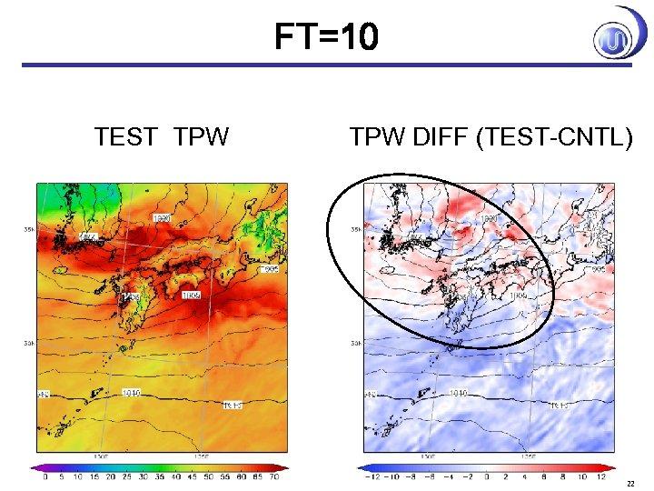 FT=10 TEST TPW DIFF (TEST-CNTL) 22