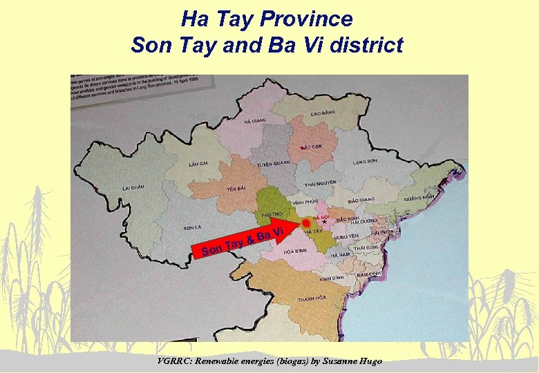Ha Tay Province Son Tay and Ba Vi district Ba ay & Vi T
