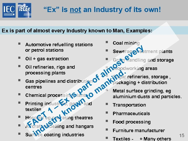 """Ex"" is not an Industry of its own! Ex is part of almost every"
