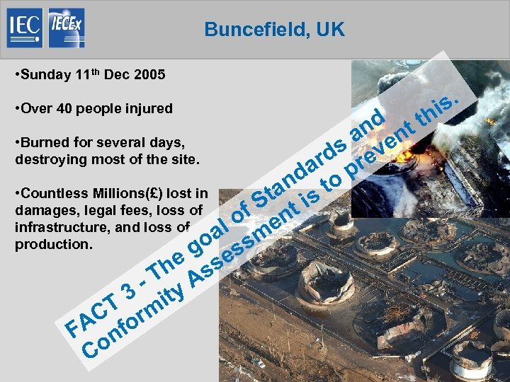 Buncefield, UK • Sunday 11 th Dec 2005 • Over 40 people injured d