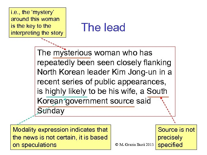i. e. , the 'mystery' around this woman is the key to the interpreting