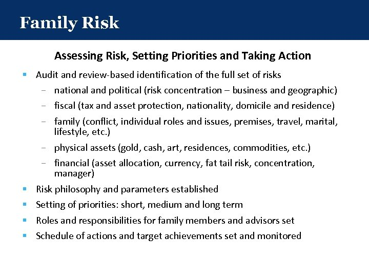 Family Risk Assessing Risk, Setting Priorities and Taking Action § Audit and review-based identification