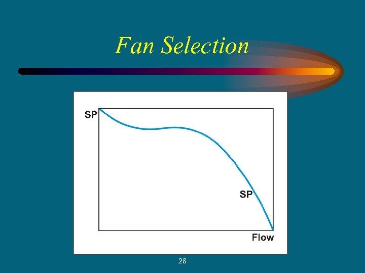 Fan Selection 28