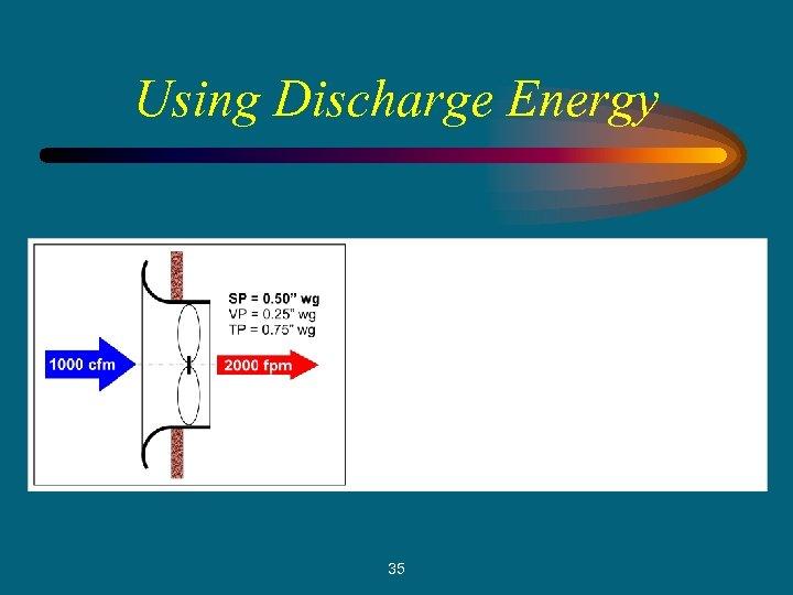 Using Discharge Energy 35