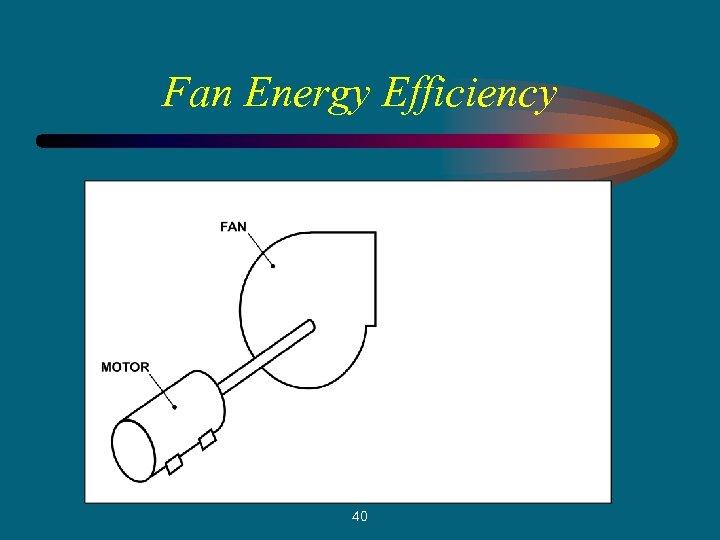 Fan Energy Efficiency 40