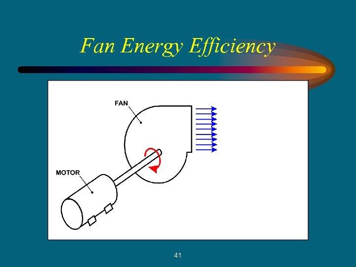 Fan Energy Efficiency 41