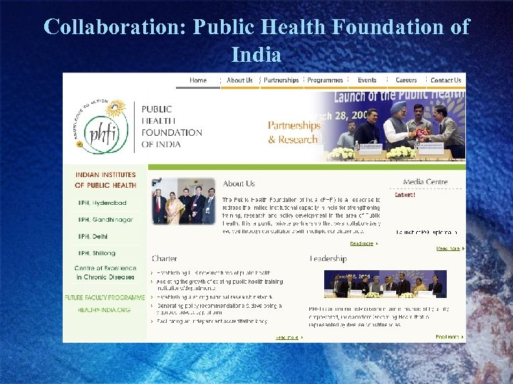 Collaboration: Public Health Foundation of India