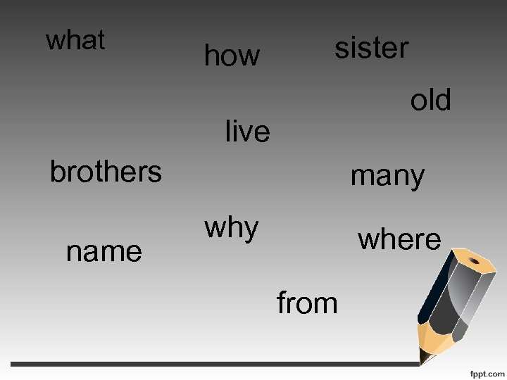 what how sister old live brothers name many where from