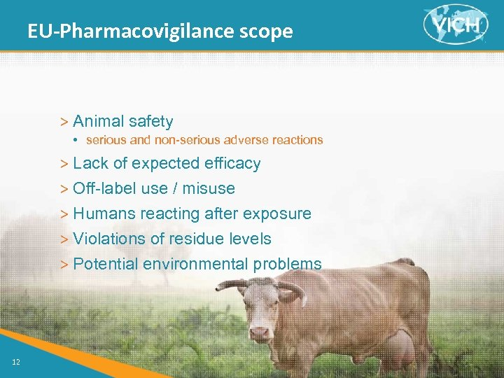 EU-Pharmacovigilance scope > Animal safety • serious and non-serious adverse reactions > Lack of
