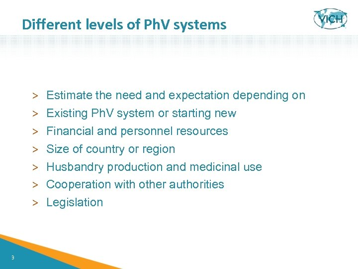 Different levels of Ph. V systems > > > > 3 Estimate the need