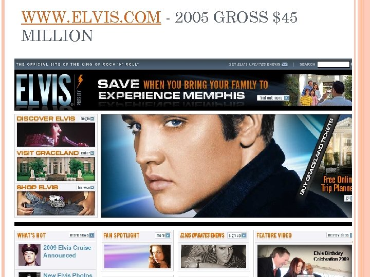 WWW. ELVIS. COM - 2005 GROSS $45 MILLION