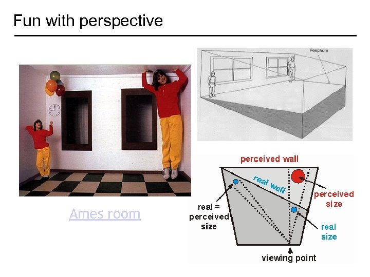 Fun with perspective Ames room