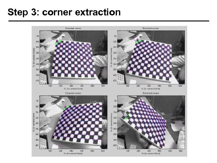 Step 3: corner extraction