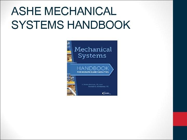 ASHE MECHANICAL SYSTEMS HANDBOOK