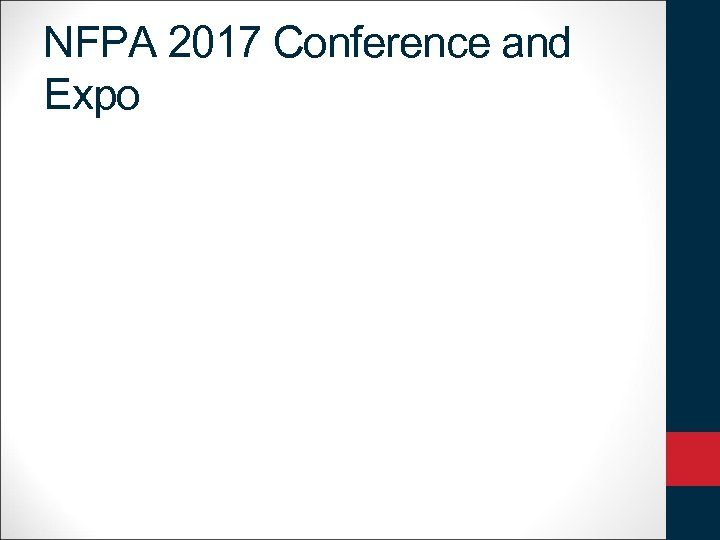 NFPA 2017 Conference and Expo
