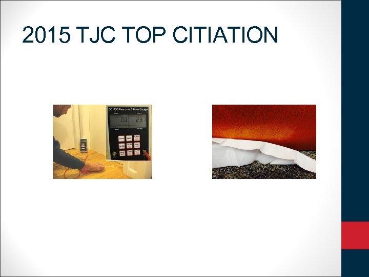 2015 TJC TOP CITIATION