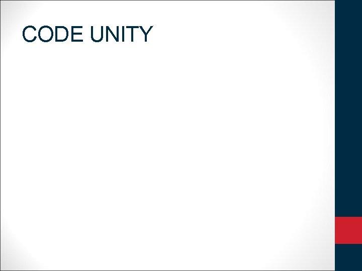 CODE UNITY