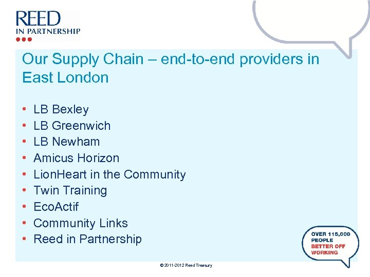 Our Supply Chain – end-to-end providers in East London • • • LB Bexley