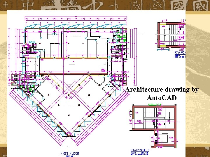 Architecture drawing by Auto. CAD