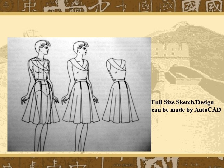 Full Size Sketch/Design can be made by Auto. CAD