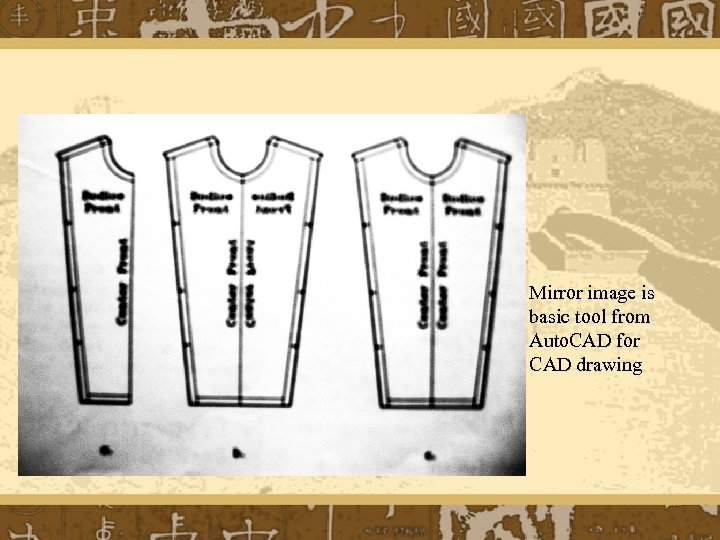 Mirror image is basic tool from Auto. CAD for CAD drawing