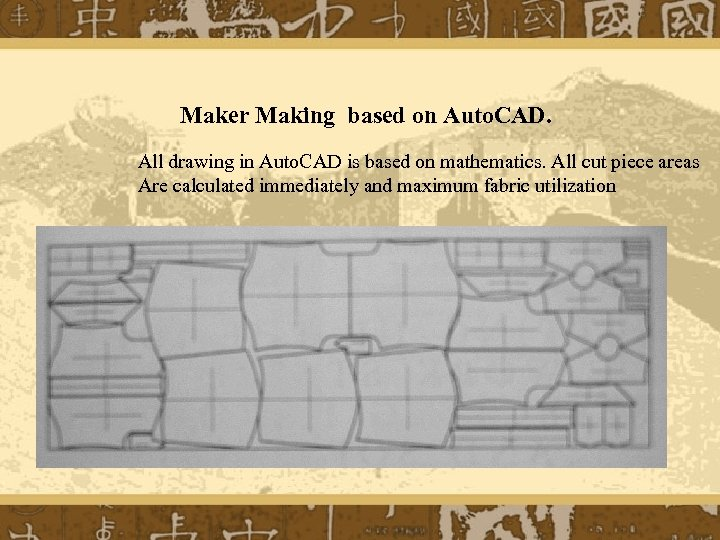Maker Making based on Auto. CAD. All drawing in Auto. CAD is based on