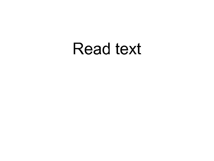 Read text
