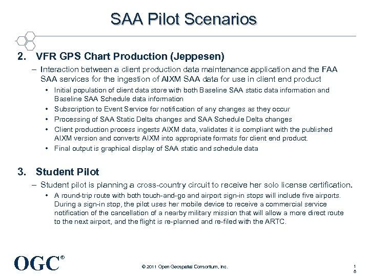 SAA Pilot Scenarios 2. VFR GPS Chart Production (Jeppesen) – Interaction between a client