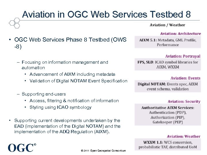 Aviation in OGC Web Services Testbed 8 • OGC Web Services Phase 8 Testbed
