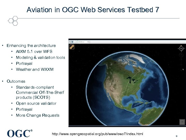 Aviation in OGC Web Services Testbed 7 • Enhancing the architecture • AIXM 5.