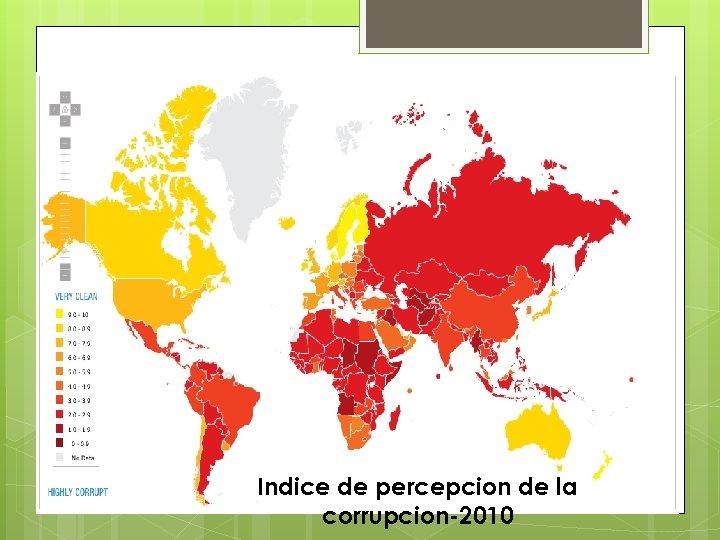 Indice de percepcion de la corrupcion-2010