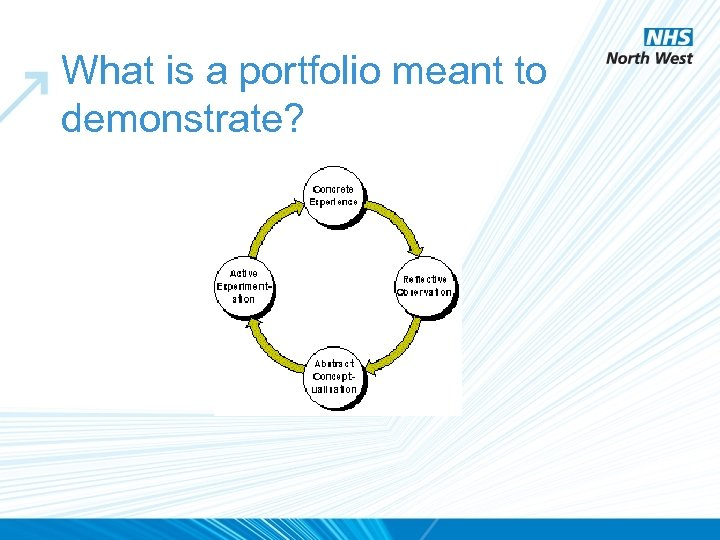 What is a portfolio meant to demonstrate?