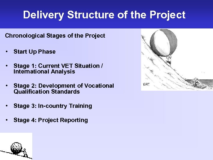 Delivery Structure of the Project Chronological Stages of the Project • Start Up Phase