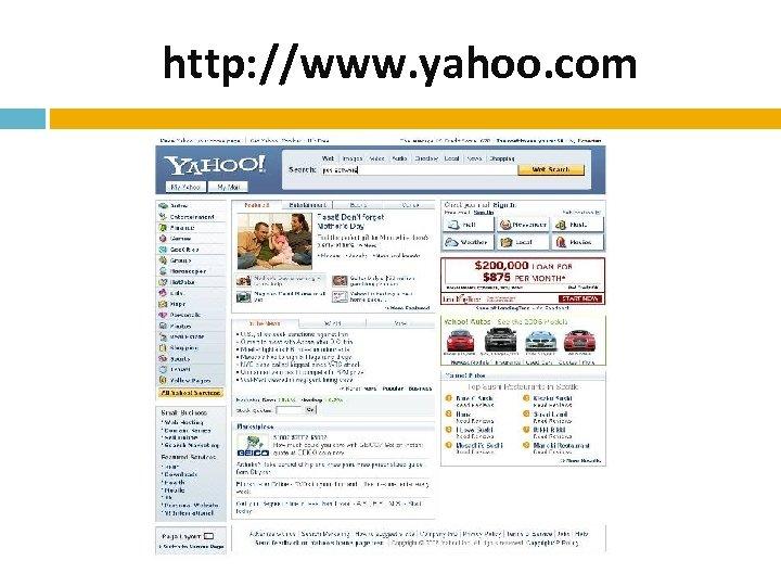 http: //www. yahoo. com