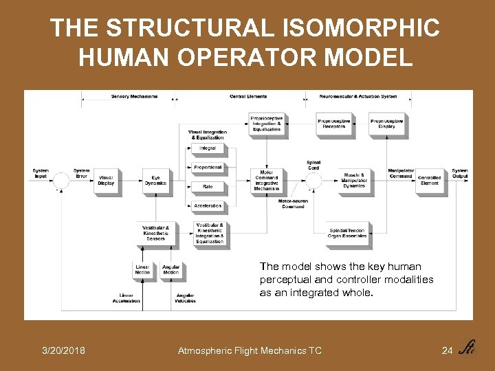 THE STRUCTURAL ISOMORPHIC HUMAN OPERATOR MODEL The model shows the key human perceptual and