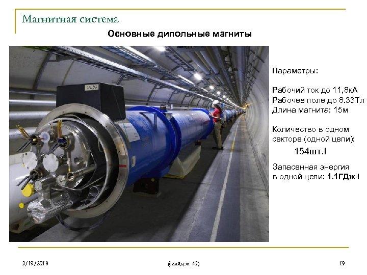Магнитная система Основные дипольные магниты Параметры: Рабочий ток до 11, 8 к. А Рабочее