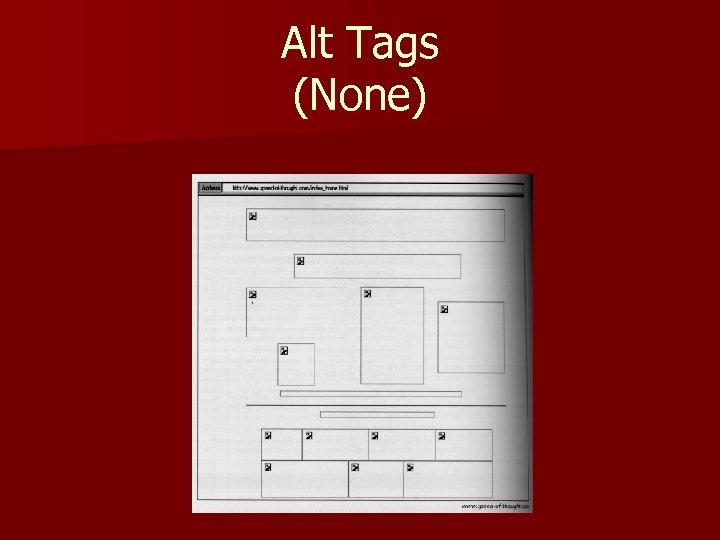 Alt Tags (None)