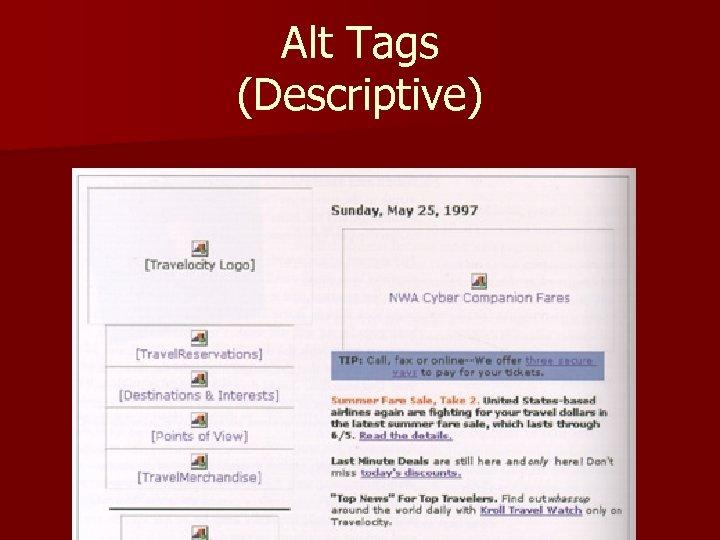 Alt Tags (Descriptive)