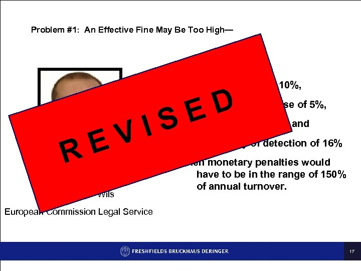 Problem #1: An Effective Fine May Be Too High— Assuming n E R IS