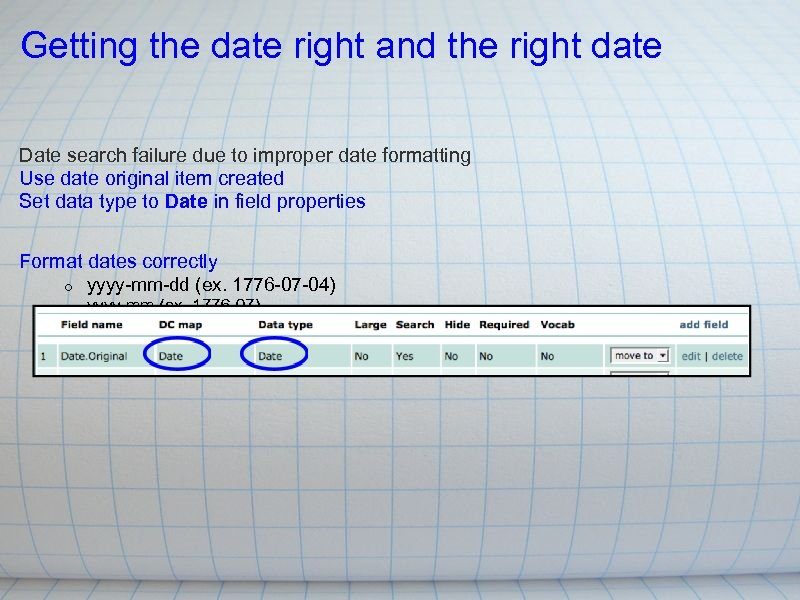 Getting the date right and the right date Date search failure due to improper