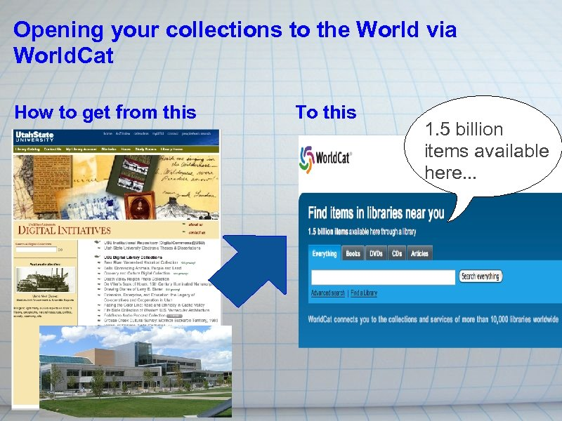 Opening your collections to the World via World. Cat How to get from this