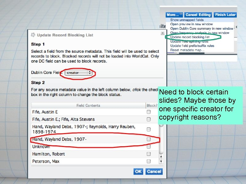 Need to block certain slides? Maybe those by one specific creator for copyright reasons?