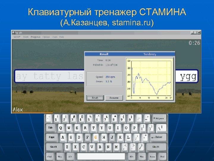 Клавиатурный тренажер СТАМИНА (А. Казанцев, stamina. ru)