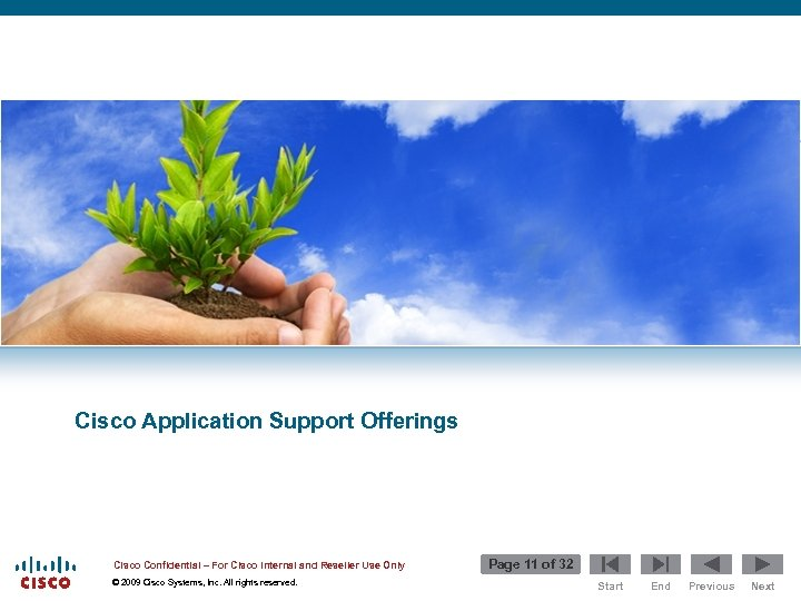 Cisco Application Support Offerings Cisco Confidential – For Cisco Internal and Reseller Use Only
