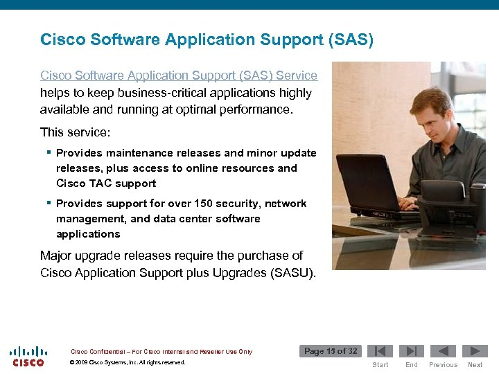 Cisco Software Application Support (SAS) Service helps to keep business-critical applications highly available and