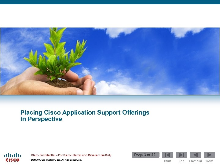 Placing Cisco Application Support Offerings in Perspective Cisco Confidential – For Cisco Internal and